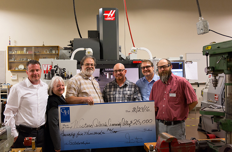Haas Foundation check