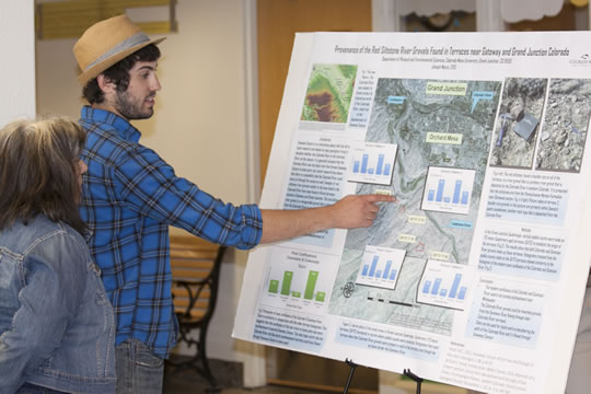 Geology Student Presenting