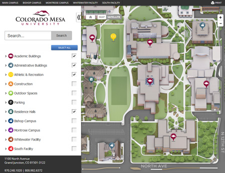 Campus Maps Interactive Map