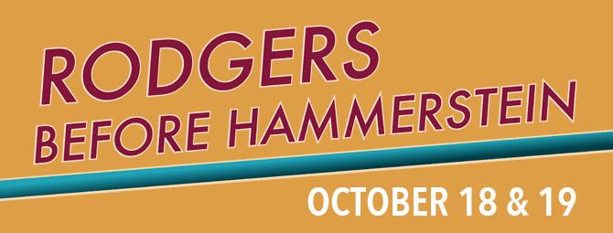 Rodgers befor Hammerstein, October 18-19