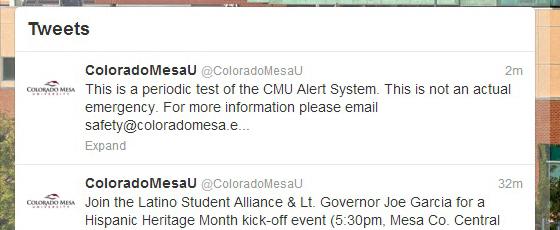 Emergency Notification System | Colorado Mesa Univ